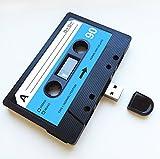 USB Mixtape, rétro, cadeau insolite, musique, frais, mignon, Amour, Présentez, Boyfriend, petite amie, 80s, 90s, gadget, geek, bureau, Fantaisie, anniversaire, mariage, anniversaire, Saint-Valentin, cadeaux, cadeaux de Noël pour elle, pour lui, n', Flash Drive, DE télécharger des chansons, des photos et des vidéos 16 Go noir