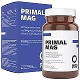 Magnesium Kapseln hochdosiert von Primal State, Magnesiumkomplex aus Magnesiumcitrat und Magnesium Glycinat, frei von Zusatzstoffen - 120 Kapseln