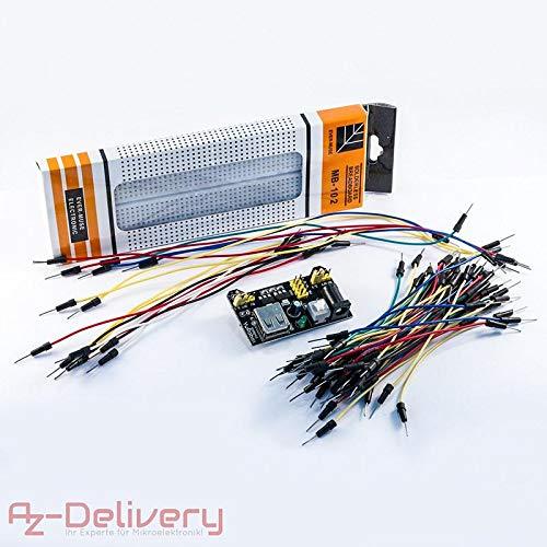 Il kit Breadboard MB 102 di AzDelivery è il set di componenti perfetto per i vostri primi passi nel mondo dell'elettronica e della prototipazione. Non dovrete preoccuparvi di comprare vari articoli separatamente, magari correndo il rischio d...