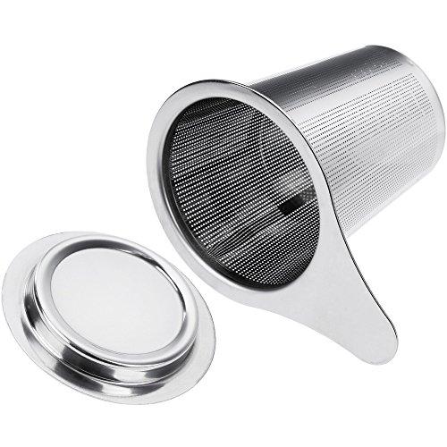 anpro filtre th acier inoxydable infuseur th passoire th avec trou fin poign e et. Black Bedroom Furniture Sets. Home Design Ideas