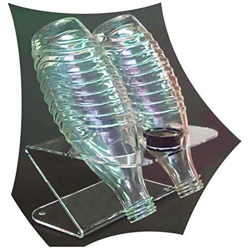 HOKU Holzhäuser Kunststofftechnik  Karaffenständer für Sodastream Glasflaschen Abtropfhalter für 2 Sodasteam Flaschen