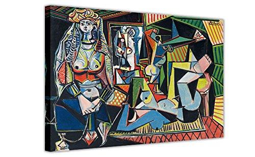 Les Femmes D'Alger (versione O) di Pablo Picasso, ristampato su tela incorniciata, ideale come...