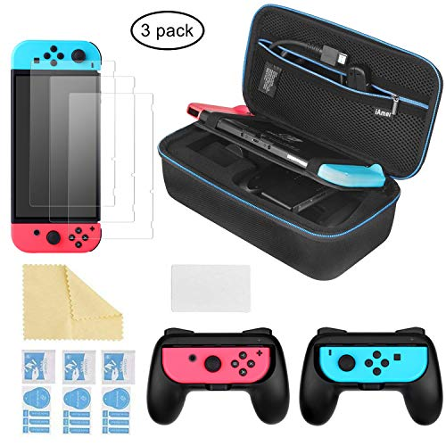iAmer 6 in 1 Kit di accessori per Nintendo Switch, Custodia per il Trasporto per Nintendo Switch,2...