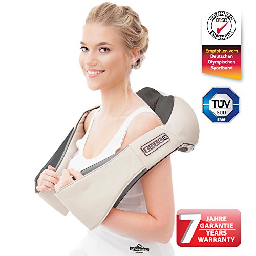 Massager for neck and back- Premium German brand – Donnerberg ® Original – pain relief - infrared heat-adjustable functions – 7 years warranty-massage for home, office, car use