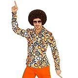 70er Jahre Hemd Herren Schlagermove Herrenhemd L/XL (52/54) Hippie Outfit Schlager Kostüm Shirt