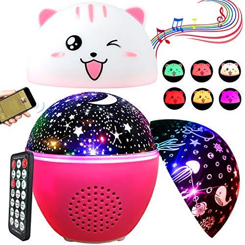 Stelle Lampada Proiettore ENONEO 16 Colori Oceano Proiettore Stelle Bambini Musica con Timer &...