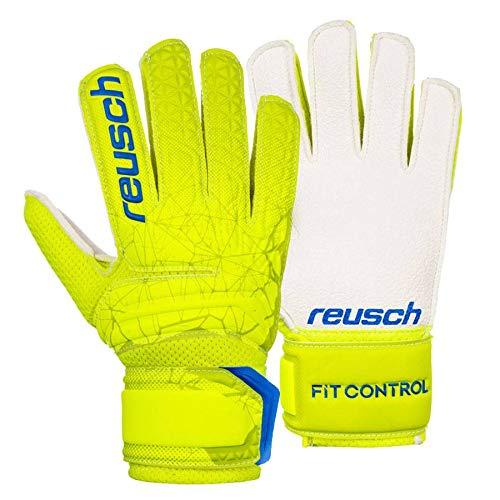 Reusch - Guanti da Portiere per Bambini Fit Control RG Open Cuff, Bambini, 3972615, Lime/Safety...