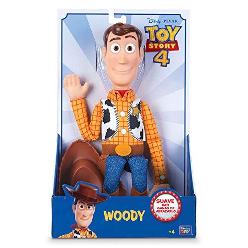 Toy Story 4 - Figura de Woody el Sheriff suave - 40cm de altura (Bizak 61234111)