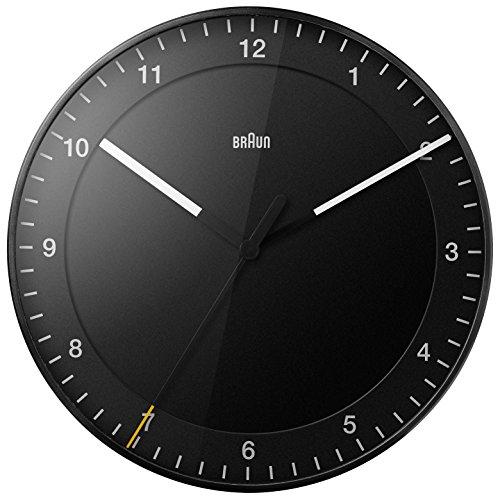 Marrone orologi da parete Analog plastica Black bnc017bkbk, nero