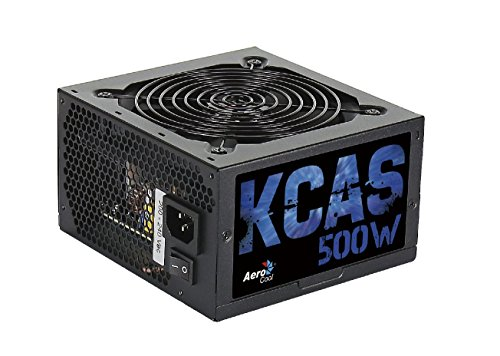 Aerocool KCAS 500S - Fuente de alimentación (20+4 pin ATX, 47-53 Hz, Activo, 12V, 3.3V, 5V, 5Vsb, 12V, ATX, 80 PLUS Bronze)