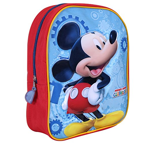 Zainetto Bambino Topolino - Zaino con stampa di Mickey Mouse - Cartella scolastica per l'asilo e la...