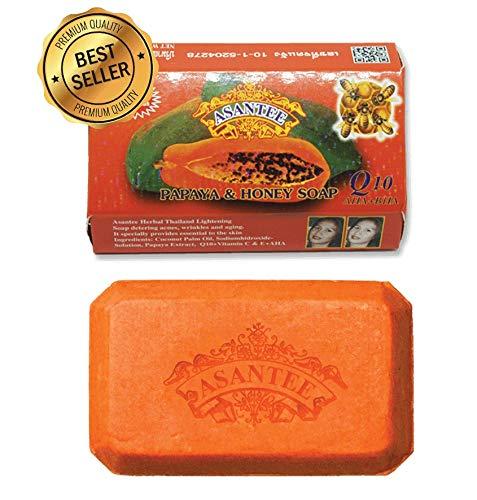 Asantee Papaya And Honey Skin Whitening Herbal Soap 125 G - Pack Of 2