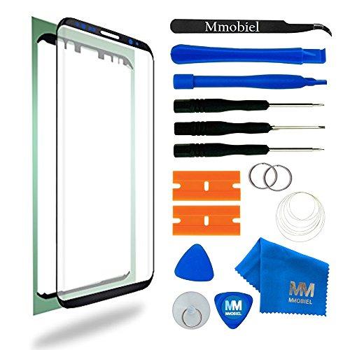MMOBIEL Kit Reemplazo Pantalla de Vidrio Compatible Samsung Galaxy S8 Plus G955 Series 6.2 Pulg (Negro) con Herramientas