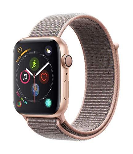 AppleWatch Series4 (GPS) con caja de 44mm de aluminio en oro y correa Loop deportiva rosa arena