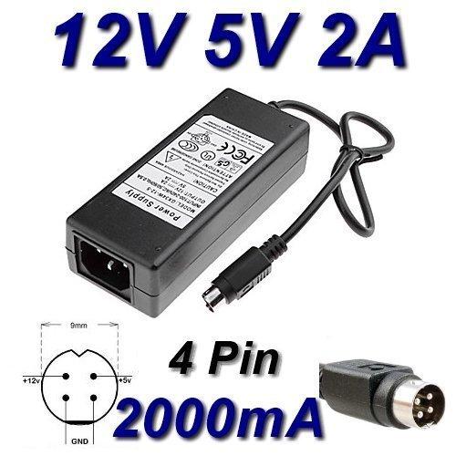 TOP CHARGEUR Adattatore Caricatore Caricabatteria Alimentatore 12V 5V 2A 4 Pin per Hard Disk...