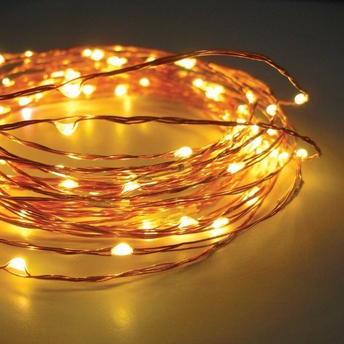 TONY STARK Copper String USB LED Lights, Fairy,Garden, Decoration Party Wedding Diwali Christmas Copper String Lights (50 LED 5m)