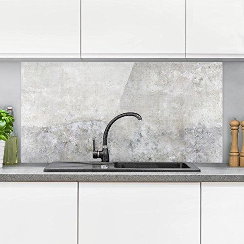 Bilderwelten paraschizzi in vetro shabby concrete look orizzontale 1 2 paraschizzi cucina - Pannello paraschizzi cucina ...