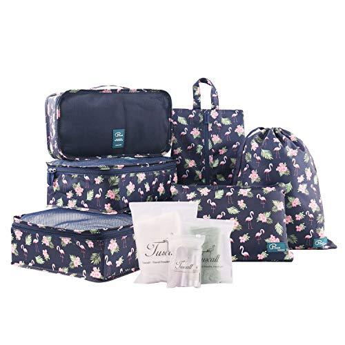 Tuscall Set di 6 Cubo di Viaggio per i bagagli, Organizer Valigia, Cubi da Imballaggio - Perfetto di...
