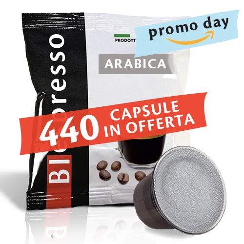 Caffè Biespresso, Capsule Compatibili Nespresso, Miscela 100% Arabica - 8 astucci da 50 capsule...