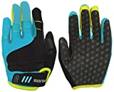 Polaris Tracker 2 Gloves Kids - Cyan, XL/Long Full Finger Glove Mitten Children Child Kid Youth Unisex Boy Girl Youth Junior Infant Bicycle Cycling Cycle Biking Bike Mountain Clothes Wear Scooter