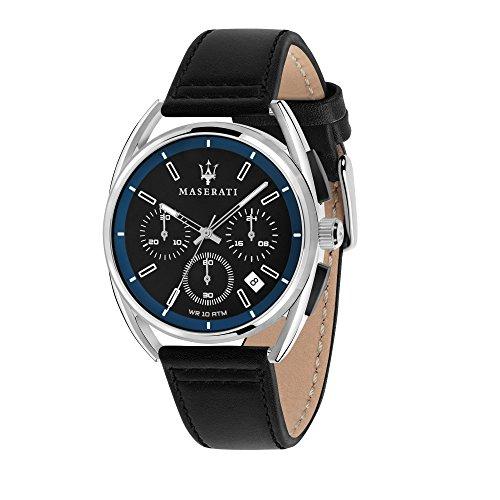 MASERATI Orologio Cronografo Quarzo Uomo con Cinturino in Pelle R8871632001