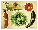 Doron Layeled Puzle de Madera de Perchero Grande con diseño de Verduras, de la Marca