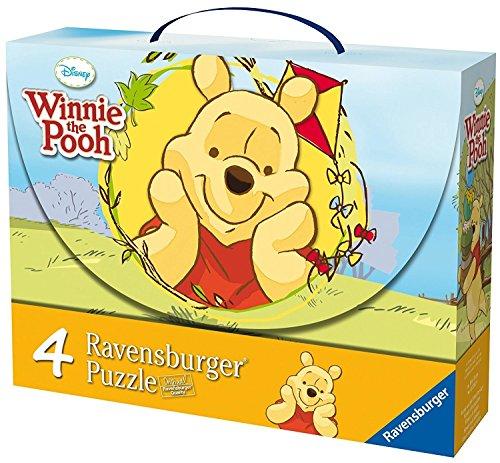 Ravensburger 07201 Winnie The Pooh y Las Mariposas - Maletn con 2 Puzzles de 25 Piezas y 2 Puzzles de 36 Piezas