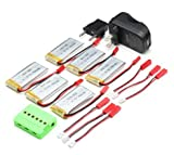 UUMART 750MAH 25C 3.7V Battery & Charger Spare Parts For JJRC H12C DFD F181 MJX