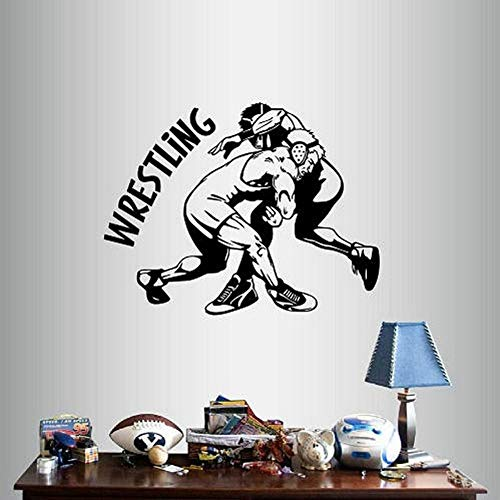SLQUIET DIY Home Decor Art Sticker Silhouette Wrestling Match lottatori Sport Camera dei Ragazzi...
