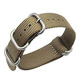 stile 22 millimetri kaki Premium Deluxe NATO robusto esotico nylon morbido polso banda vigilanza del wristband uomini di sport