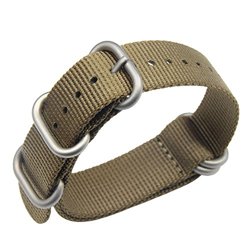 18 millimetri kaki fascia alta stile NATO superiore nylon balistico sostituzione cinturino cinturino intrecciato per gli uomini