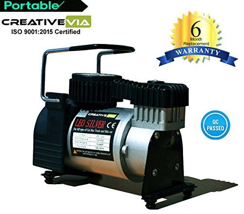 CreativeVia Heavy Duty Metal Air Compressor Tyre Inflator Air Pump- (100% Copper Winding )