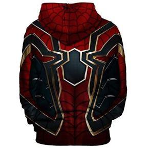 SPIDERMANHTT Iron Spiderman Ropa for adultos Sudadera con capucha Sudadera Disfraces de juegos de películas Impresión 3D Spandex Lycra (Color : Picture 1, Size : XL)