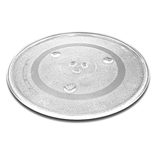 vhbw Glas Mikrowellen-Teller 31.5cm mit Y-Aufnahme für Mikrowellen von Bosch, Siemens, AEG, Severin, Panasonic, Samsung, Clatronic, LG, Bomann