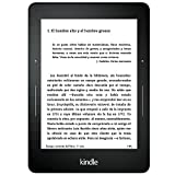 E-reader Kindle Voyage, pantalla de 6'' (15,2 cm) de alta resolución (300 ppp), con luz integrada autorregulable, pasos de página rediseñados, wifi