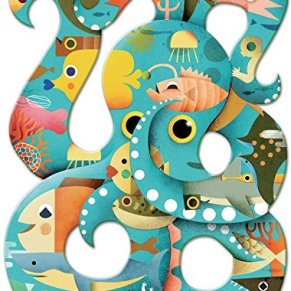 Djeco- Puzzle Art Octopus 350 Piezas, (DJ07651)