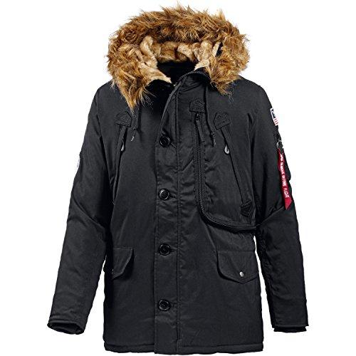 Alpha Industries Polar Jacket Parka, Nero (Black), Medium Uomo