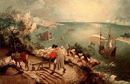 Kunst für Alle Impresión artística/Póster: Pieter Brueghel Der Ältere Sturz Des Ikarus - Impresión, Foto, póster artístico, 100x65 cm