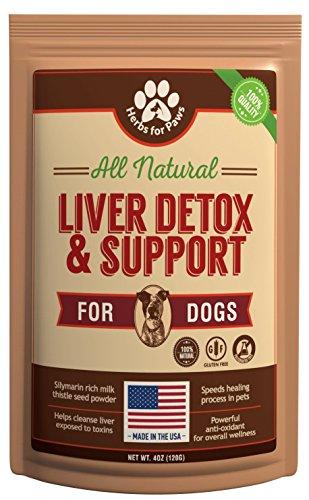 Herbs for Paws Protección Hepática y Cardo Mariano para Perros y Gatos (suplemento sin cápsulas) 4 oz Bolsa