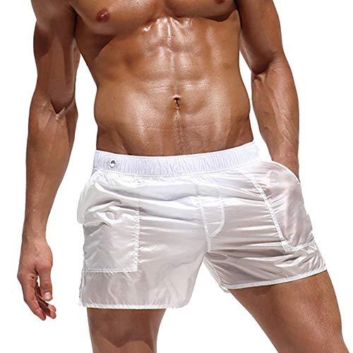 Badehose, Strandhosen für Männer, Sexy Transluzent Shorts für Männer, Schnelltrocknende Badehose für Männer, Badeshorts