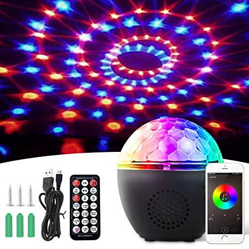 BACKTURE Luci da Palco, Luci Discoteca LED Bluetooth con Telecomando e USB Cavo, Canali RGBW 16...