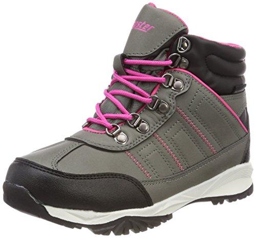 Latupo GmbH - Shoes Limes, Scarpe da Arrampicata Alta Unisex-Bambini, Grigio (Grau/Pink), 34 EU