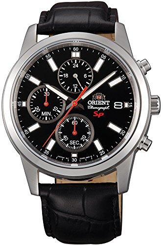 Orient Orologio Cronografo Quarzo Uomo con Cinturino in Pelle FKU00004B0