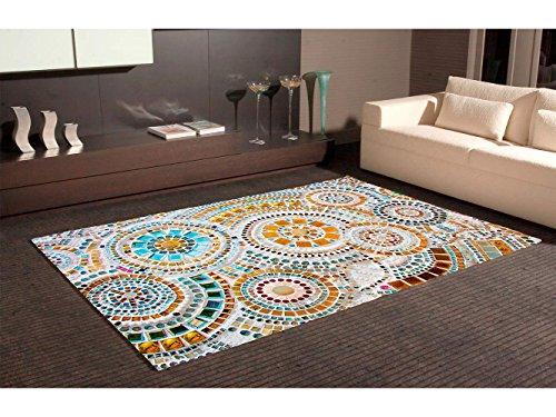 Oedim Tappeto circolari Imitazione grresite Multicolore PVC 95 cm x 165 cm Moquette PVC Pavimento...