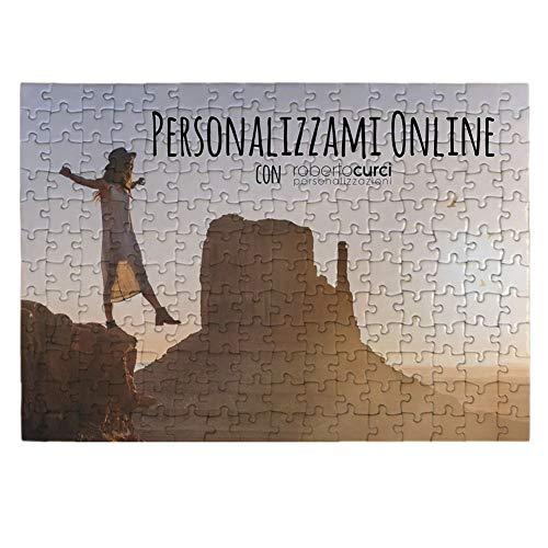Puzzle Personalizzato con foto e testo stampato IDEA REGALO per ogni occasione, in cartone, forma e...