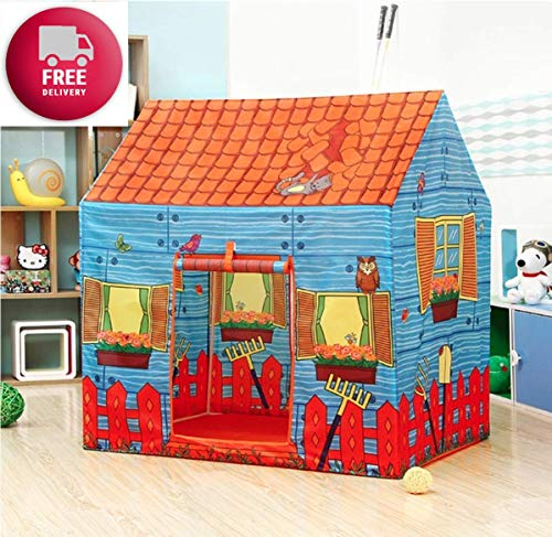 SKEDIZ Jumbo Size Extremely Light Weight , Water & Fire Proof Doll Tent House for Girls 10 Year Old Girls (Farm House)