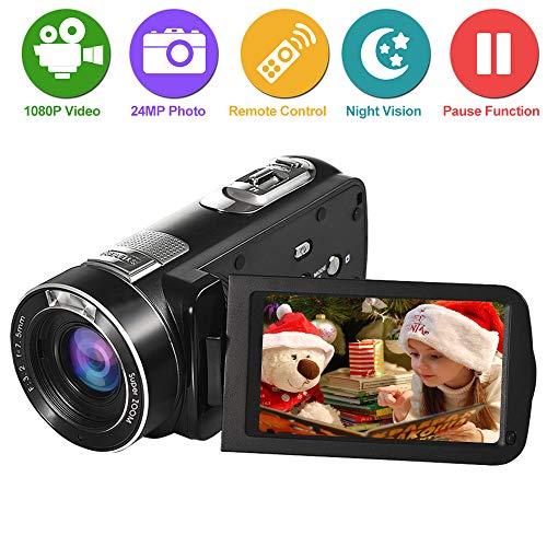 Videocamera Fotocamera Digitale Fotocamera Videocamera Full HD 1080p Fotocamera 24.0MP 18x Zoom...