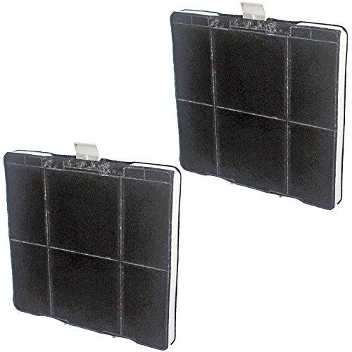 Spares2go quadrato filtro al carbone per Siemens cappa Vent estrattore (confezione da 2)