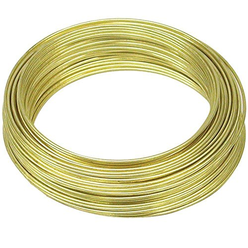 Pure Brass gold colour immitation jewellery wire 0.50 mm (25 gauge) 5 meters - Beading wire - Craft wire - Voolex