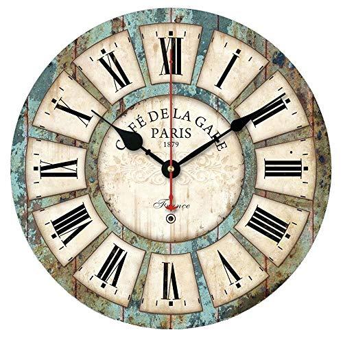 Alicemall Vintage Francese Adesivo Orologio da Parete in Legno in Stile di Toscana Ottimo Disegno (Stile Cinque)